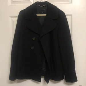 Banana Republic double breasted black pea coat